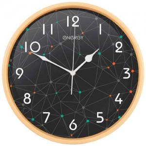 Часы настенные Energy EC-107, 32*4,5см (круглые) плавный ход, пластик,  АА*1шт нет в компл 9480