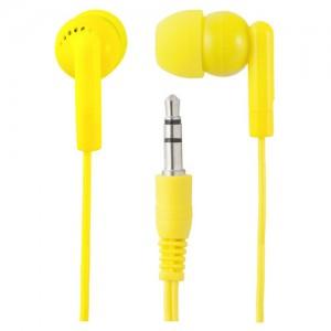 Perfeo наушники вакуумные PF-NNM-YLW, провод 1,2м, желтые, Jack 3.5 (PF-NNM-YLW|PF-PAC-YLW)