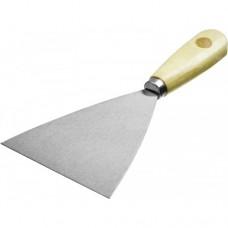 Шпатель MIRAX стальной, c деревянной ручкой, 100мм