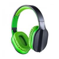 Perfeo наушники полноразмерные DUAL черные/зеленые, PF_A4006