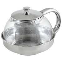 Чайник заварочный 600мл, стекло/нерж.сталь, фильтр нерж сталь, Menta-600, 910110 Mallony