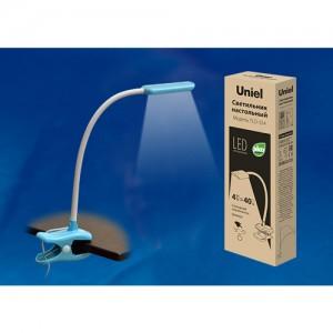 TLD-554 Blue/LED/400Lm/5500K/Dimmer Светильник настольный «прищепка», 4W. Сенсорный выключатель. Гол