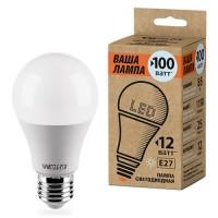 Wolta лампа св/д ЛОН A60 Е27 12W(1150Lm) 6500К 6K 120x60 25W60BL12E27