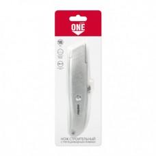 Smartbuy нож строительный, трапециевидное лезвие, алюм. порошковый корпус SBT-KNT-18P1