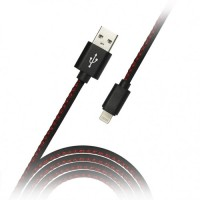 Дата-кабель Smartbuy USB - micro USB, кожа, длина 1,2 м, (iK-12pu black)/60