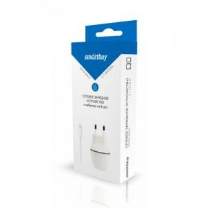 СЗУ Smartbuy NOVA MKIII, вых.ток 2.1А, 1USB + кабель для iPhone 5/6/7/8/X/New iPad, бел (SBP-1005-8)