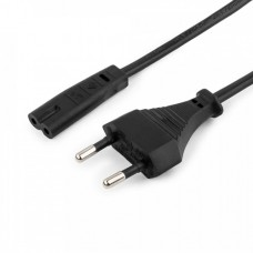 Cablexpert шнур сетевой для магнитофона 0.5м, CEE 7/16 - C7, 2-pin, 2х0,5, черн., пакет