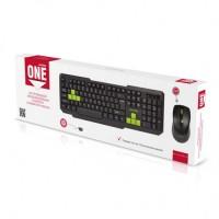 Мультимедийный комплект клавиатура+мышь Smartbuy ONE черно-зеленый (SBC-230346AG-KN) /20