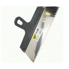 3-ON Шпатель нержавеющий, ширина лезия 250мм, зуб 4мм, пластиковая ручка, 02-11-254