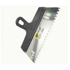 3-ON Шпатель нержавеющий, ширина лезия 250мм, зуб 6мм, пластиковая ручка, 02-11-256